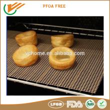 BBQ mesh fiberglass crisp mesh teflon coating tray mesh