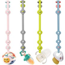 Benutzerdefinierte Silikon Schnuller Clips Spielzeug Sicherheitsgurte