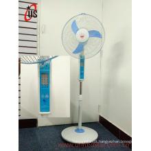 Ventilador recarregável do suporte da CC do diodo emissor de luz de 16 polegadas (USDC-421)