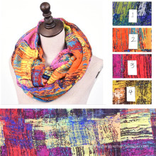 winter fall autumn spring womens summer lady floral viscose tribal scarf infinity Snood loop circle scarf