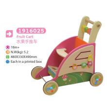 Carrito de madera multifuncional a lo largo de la cesta de juguete Carro de juguete Carro de juguete de madera