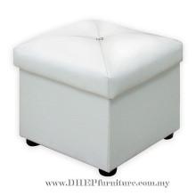 Sofá de la sala de estar otomana, caja de cuero del asiento, taburete del sofá.