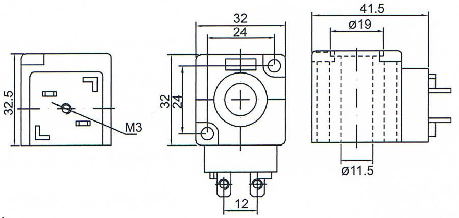Dimension of BB11532502 Solenoid Coil: