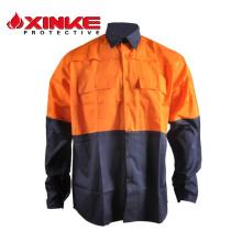 Camisas de botão de alta visibilidade 100% algodão