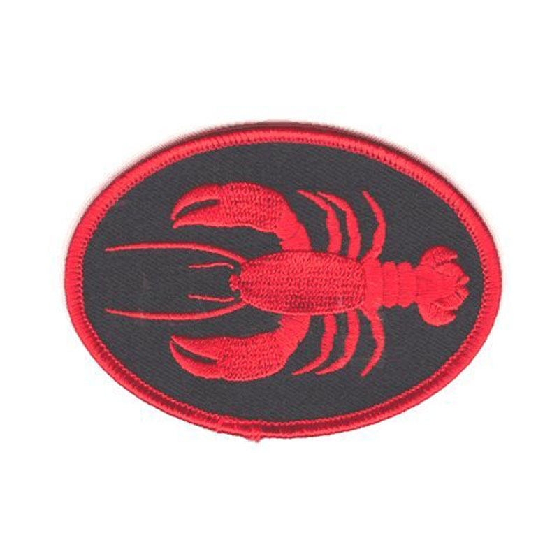 Lobster Iron On Embroidered Patch
