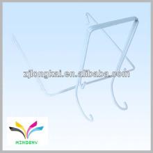 Slatwall doble blanco gancho de pantalla de alambre para exhibidor