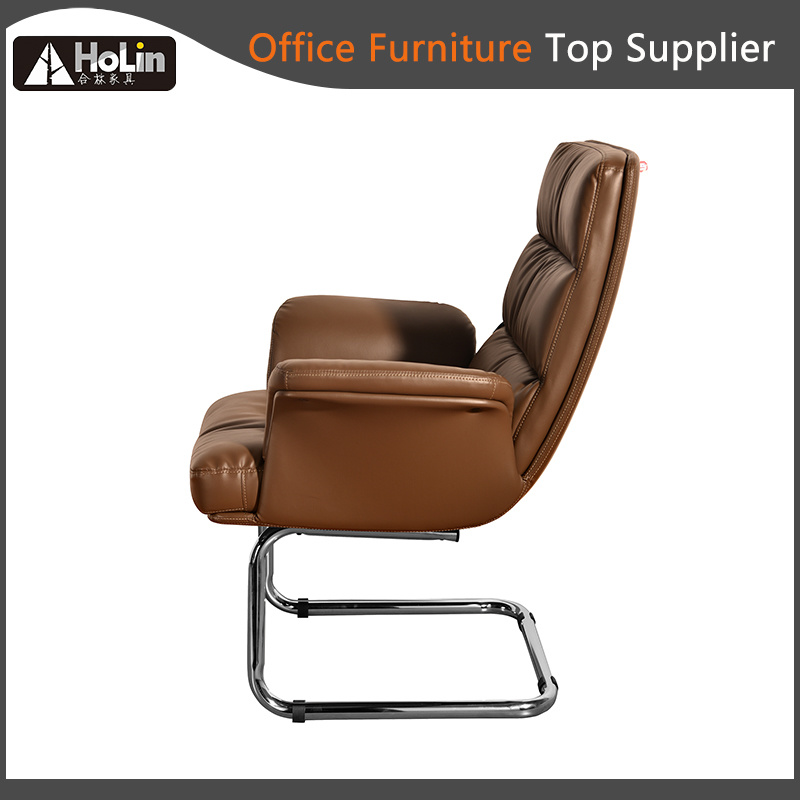 Modern Design Soft Cushion Steel Arch Footbase Office Chair
