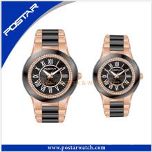 Moda Casais De Aço Inoxidável Casais De Marca Relógio De Pulso Clássico Casal Watch