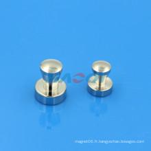 Poteau de bureau métallique rondes aimants en pot de terre rare