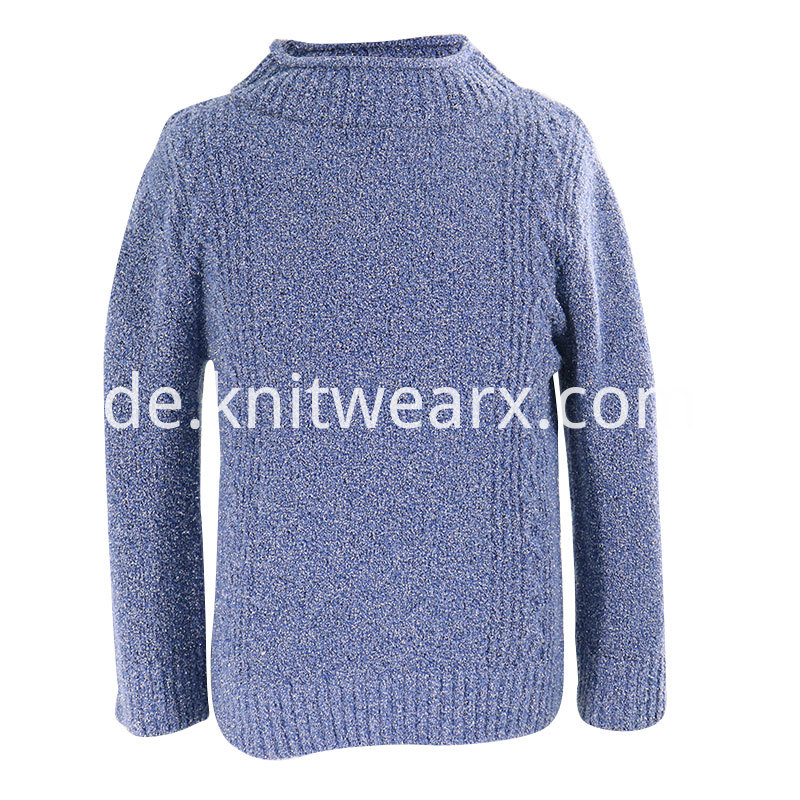 Boy's Knitted Roll Neck pullover Cable Sweater Tops