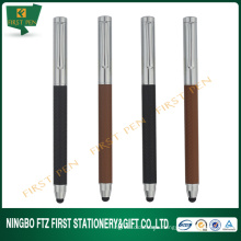 FIRST Y413 Promotional Gifts,Embossing PU Leather Pen With Touch Stylus