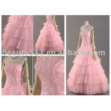 Robe de mariée en or brodé rose, robe de mariée MR-2-0075