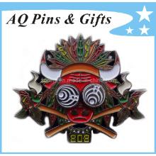 Perno de la insignia del metal con la insignia suave del esmalte (insignia-023)