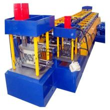 Metal stud roll forming machine, metal stud and track roll forming machine