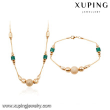 64025 Xuping wholesale african 18k gold plated fashion jewelry sets