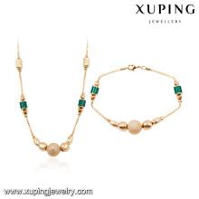 64025 Xuping atacado africano 18 k banhado a ouro conjuntos de jóias de moda