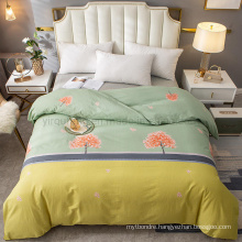 Home Product High Quality Bedding Set Cotton Brushed Fabric Comfortable for King Bed Sheet
