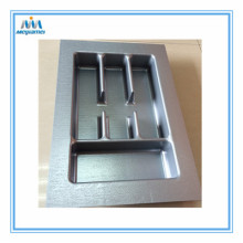 Cut to Size Silver Plastic Tray