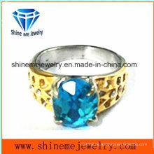 Edelstahl Ring Stein Ring (SCR2910)