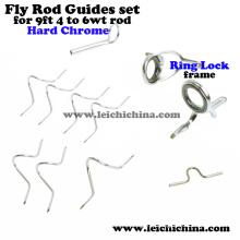 Chrome dur pour 9 pieds 4wt à 6wt Rod Fly Fishing Rod Guide Set