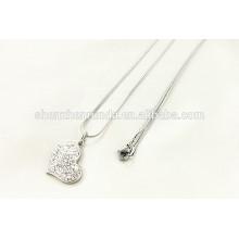 China wholesale 2015 fashion stainless steel diamond necklace