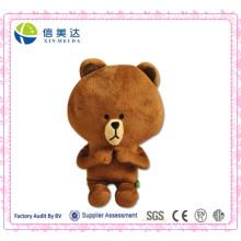 Super fofo brincar urso marrom urso de pelúcia