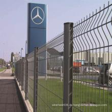 Galvanisierter / PVC-überzogener Maschendraht-Zaun mit Biegung