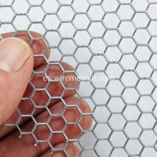 Hexagonal Hole Galvanized perforado Metal Mesh