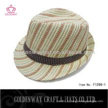 Бумажная соломенная тканая шляпа fedora
