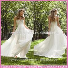 WD1183 livraison gratuite faite en Chine empire corset de taille arrière A-ligne perlée cristaux sweetheart bas de dos mousseline de soie robe de mariée