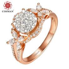 Vente en gros d'anneaux en argent pour l'importation avec la pierre cubique de zircon
