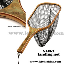 Stronger Burl Wood Handle Fly Fishing Trout Net Sln-2