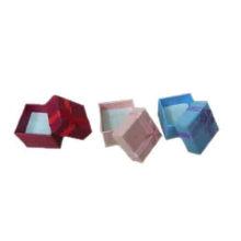 Cajas de presentación coloreadas económicas del anillo de la espuma del papel de la cartulina (PB-R1)