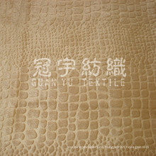 Geprägtes Samtgewebe aus kettgestricktem Polyester für die Polsterung