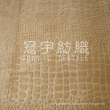 Tecido de veludo com relevo em malha de poliéster tricotado para estofamento