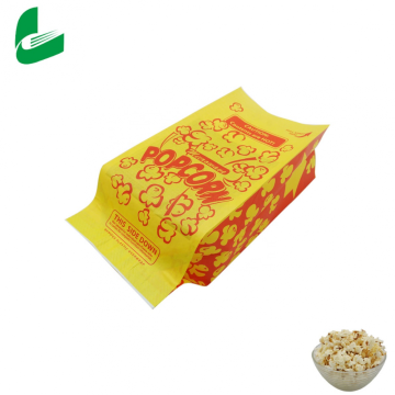 Bolsa de papel sellable personalizada de palomitas de maíz de embalaje biodegradable claro al por mayor de fábrica