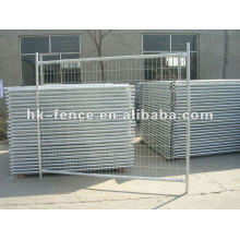 Galvanized temporary fencing