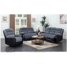 Liegestuhl aus grauem Stoff für Wohnzimmer