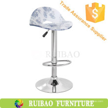 Furniture Export Acrylic Chromed Metal Base Adjustable Bar Stool Chair For KTV/Pub/Party