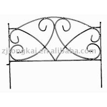 polvo negro recubierto de metal decorativo pequeña valla de jardín fábrica