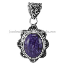 Charoite Gemstone 925 Sterling Silver Pendant Jewelry