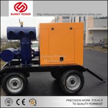 Pompe à eau Diesel de 10 pouces pour l'exploitation minière avec pompe à déchets