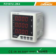 Voltaje eléctrico del metro de voltaje de la exhibición de Digitaces de la fase tres