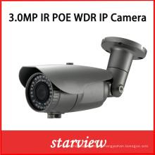 3.0MP WDR Poe IP impermeable 2.8 ~ 12mm lente cámara de infrarrojos de la bala