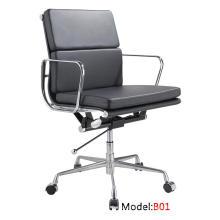 Modern Eames Hotel cadeira de couro em alumínio para reuniões (B01)