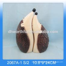 Nuevas decoraciones cerámicas de hedgehog, estatuilla de cerámica para la decoración del hogar