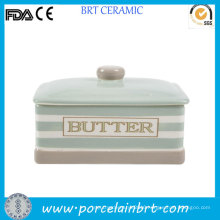 New Product Ceramic Butter Dish with Lid