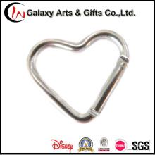 Сердце образный алюминиевый материал брелок