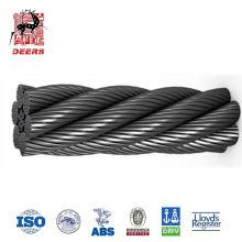 Precio de fábrica 6x36 cable de acero galvanizado