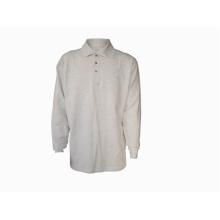 100% cotton men's polo-shirt long sleeve